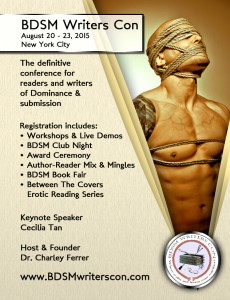 BDSM Writers Con in NYC August 20-23, 2015